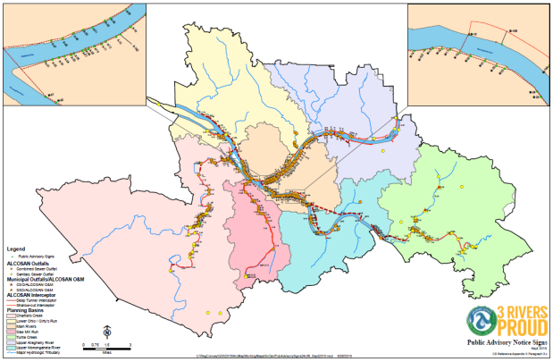 3 rivers map